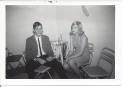 Carolyn Tate and Alan Kaufman, Christmas party 1964
