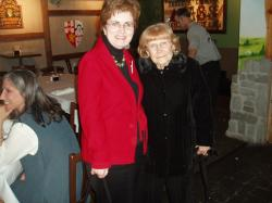 Virginia Wolfe Cochran with Mrs. Virginia Hall @ 40th reunion