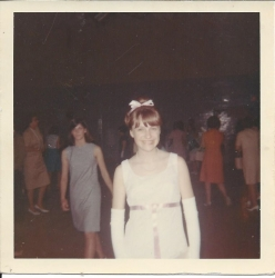 Arlene Scott WJ fashion show May 1966 - all clothing was crafted in sewing classes at WJ. Arlene made her senior prom dr