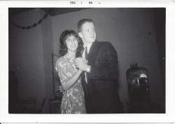 Pam Maxwell and Bill White Christmas party Dec 1964