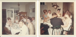 Breakfast following the WJHS 1966 senior prom. From top of table: Jeri Lee, Joe Anderson, Pat Zimmerman, Mike Wilson, Ci