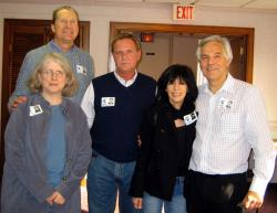 Left to right:  Bob Featherstone, Quay Dortch (in front of Bob). Bill Huntley (deceased), Debbie Sanders, and Dennis Wal